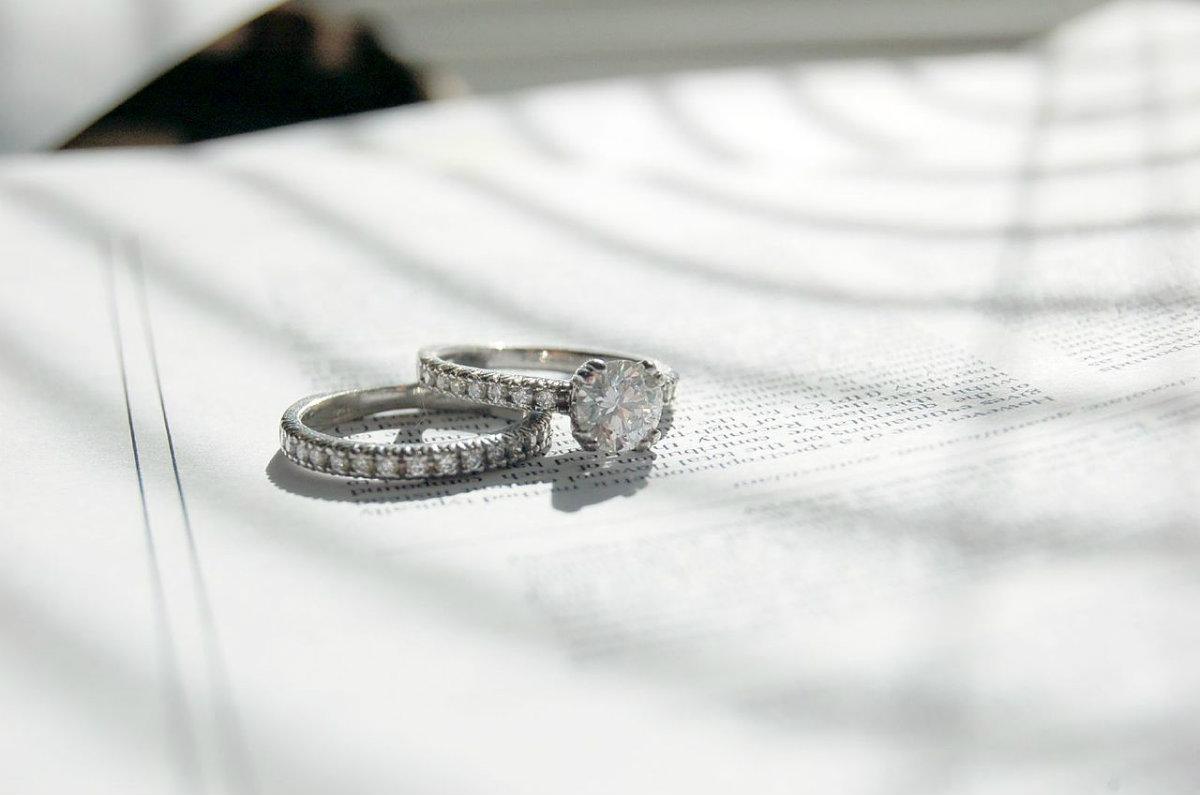 diamond engagement and wedding rings