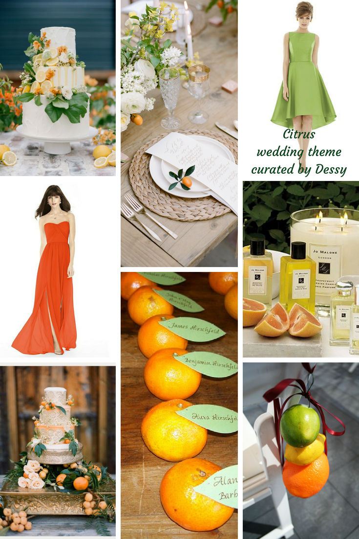 citrus wedding theme ideas