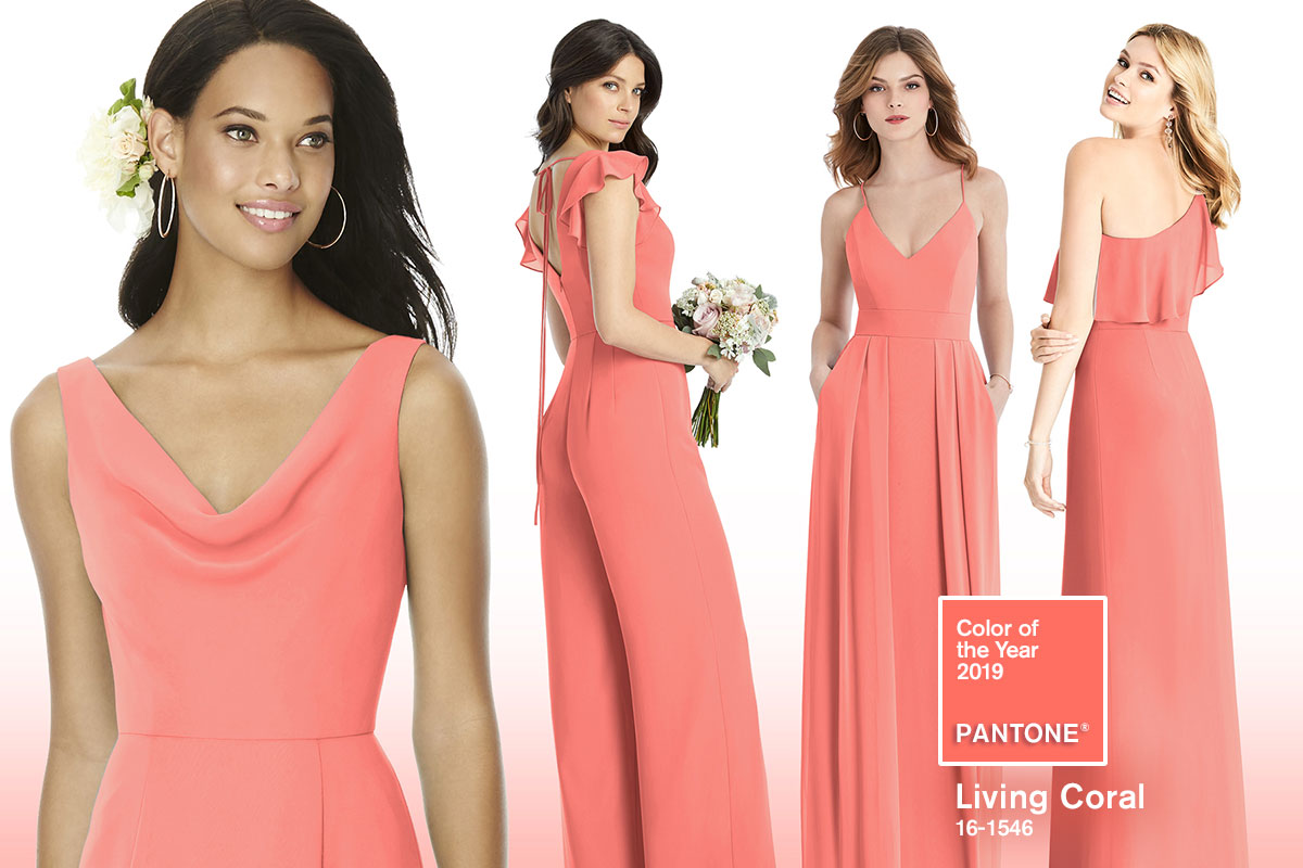 7d0b7c070bc Budding Trend  Vibrant Coral Bridesmaid Dresses for Spring