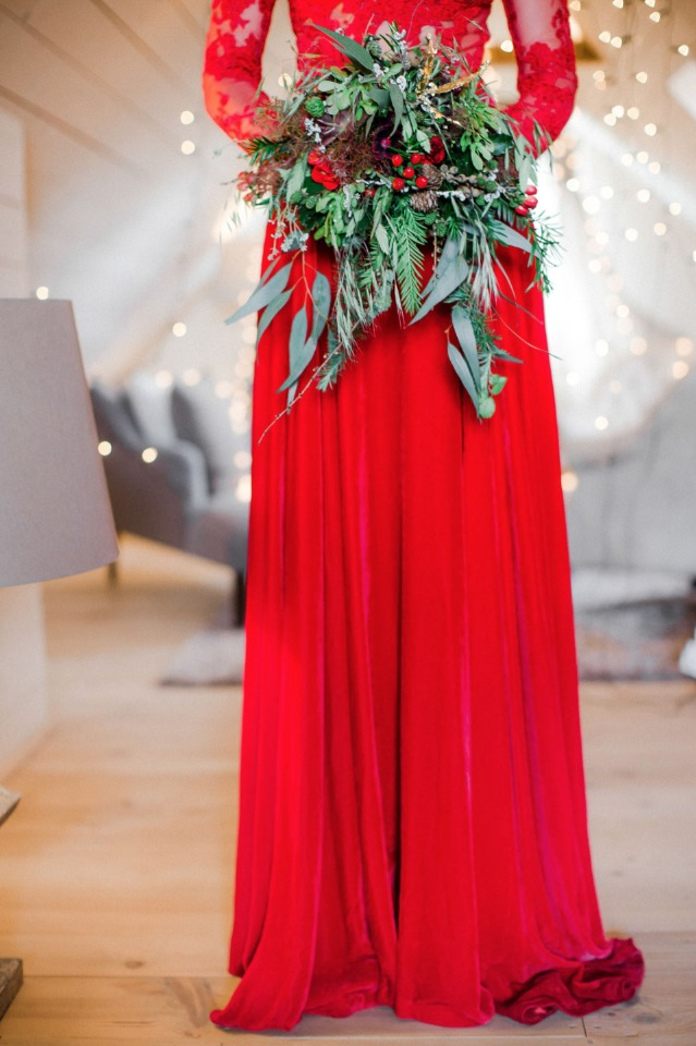 red wedding dress for winter wedding dress - wedding chicks