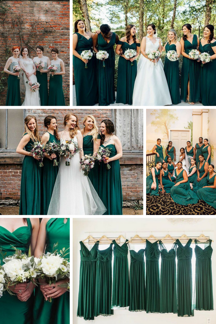 dark green bridesmaid dresses