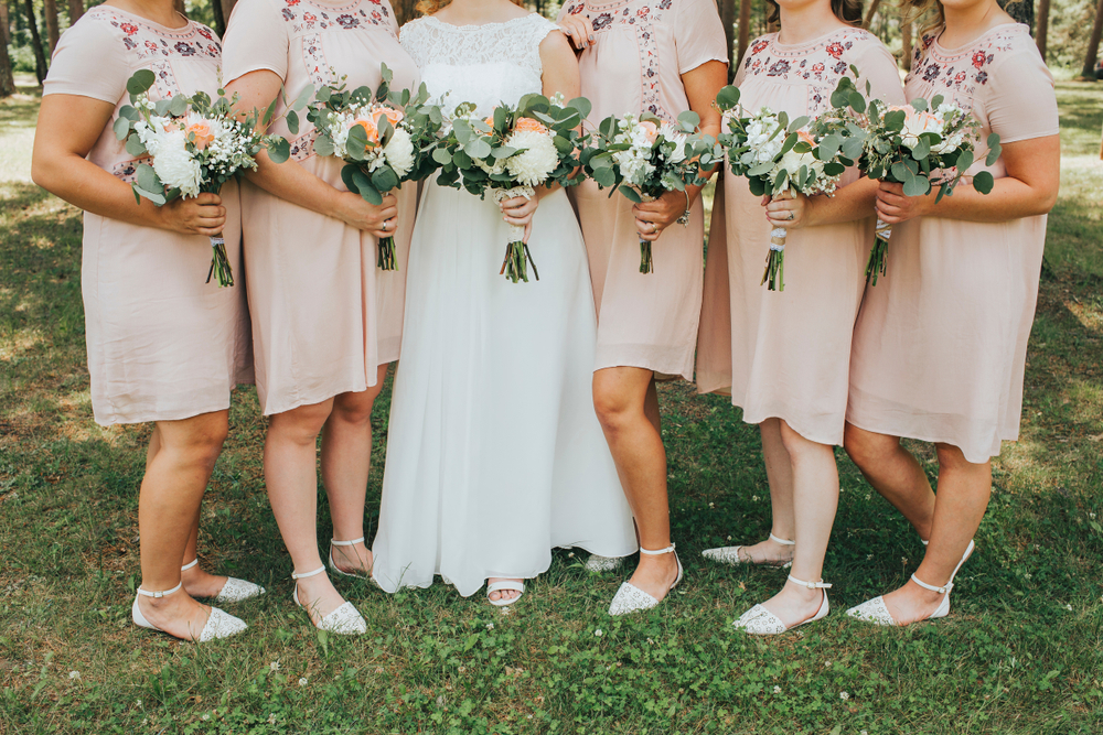 wedding shoes with short bridesmaid dresses