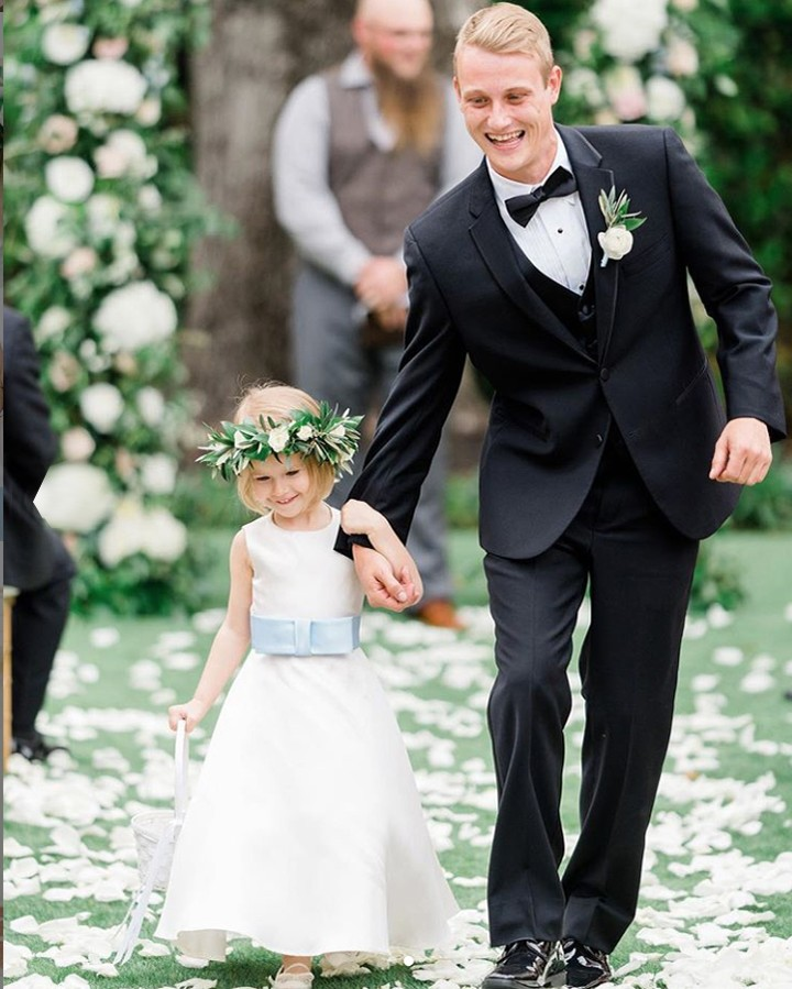 Dessy Real Wedding - Flower Girl Dress