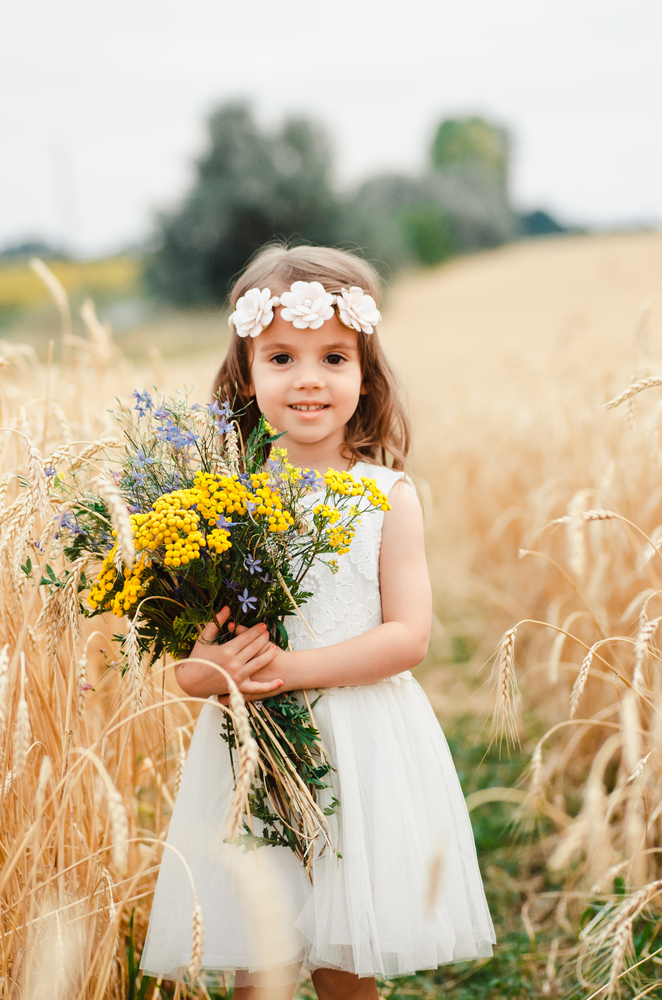 Tea Length Flower Girl Dresses