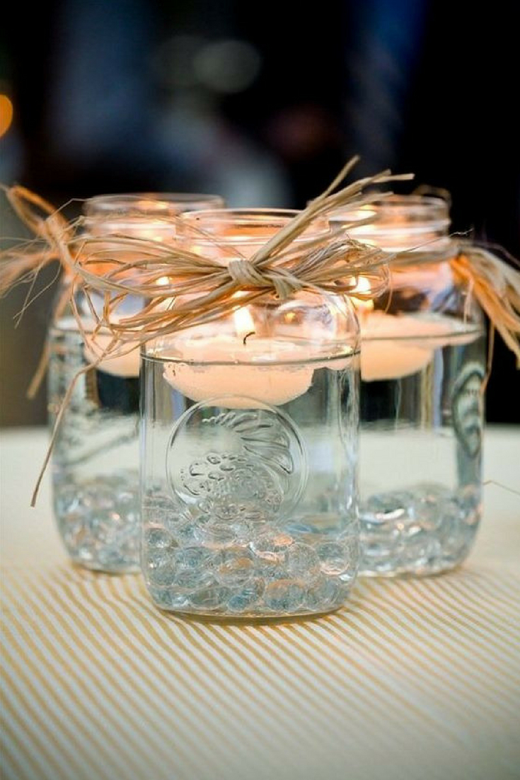 tea light mason jars