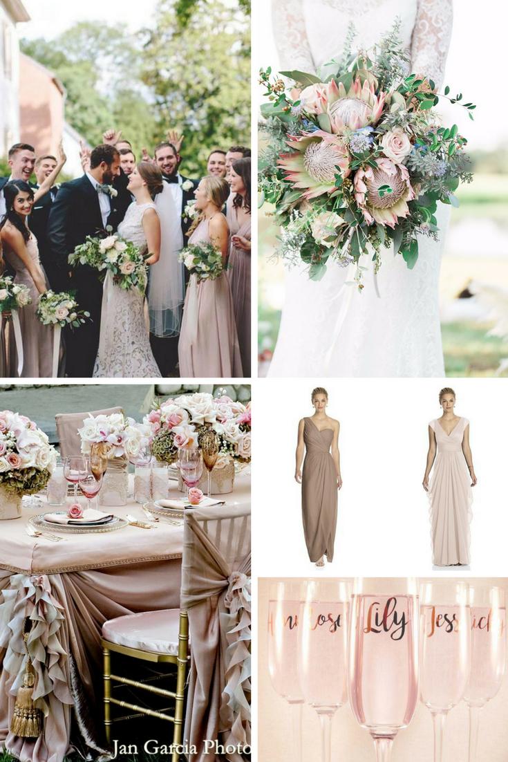 Blush Pink And Beige Wedding