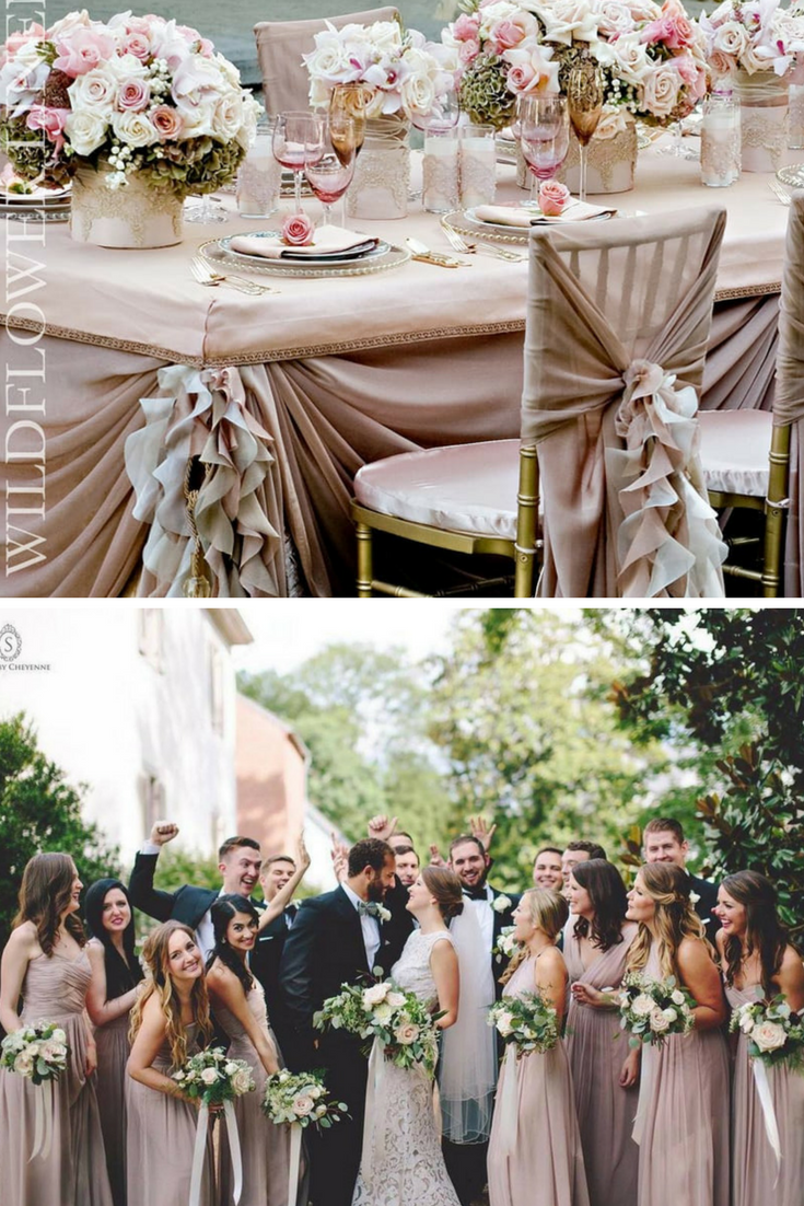 blush pink and beige wedding