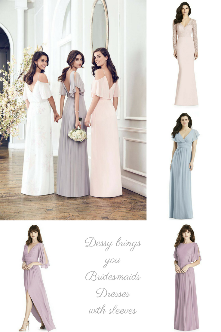 Are these the prettiest bridesmaid dresses with sleeves right now?