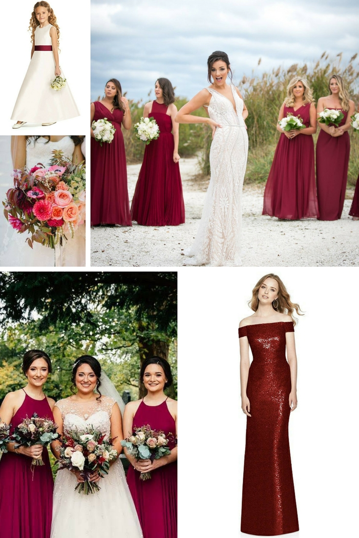 Burgundy Bridesmaid Dress Inspiration Your Girls Are Going To Love This Classy Shade And Style,Summer Outdoor Wedding Summer Casual Wedding Dresses