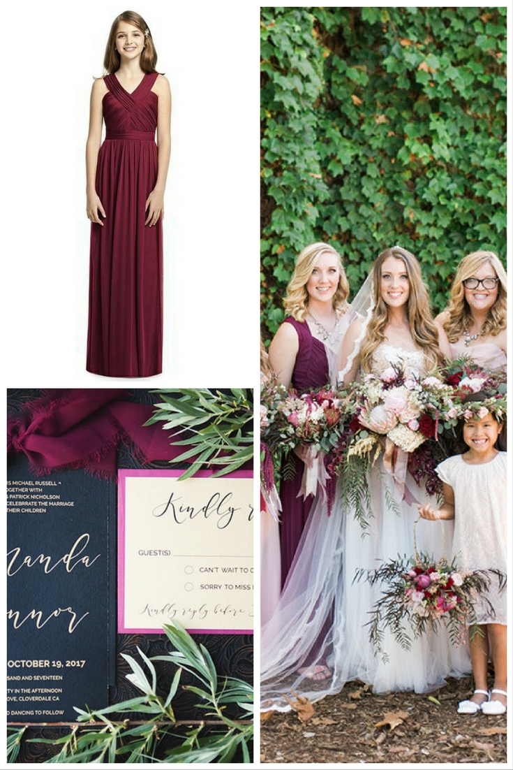 The dessy group the spot for all things bridesmaid burgundy wedding theme ombrellifo Image collections
