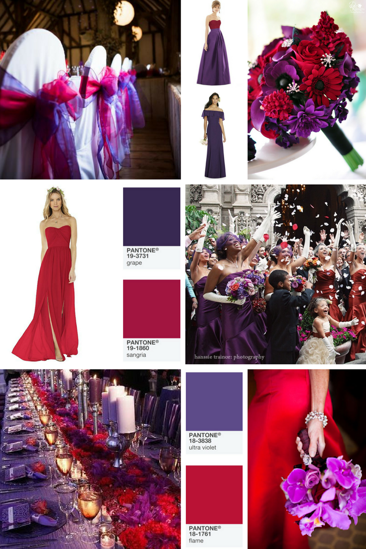 purple and red wedding