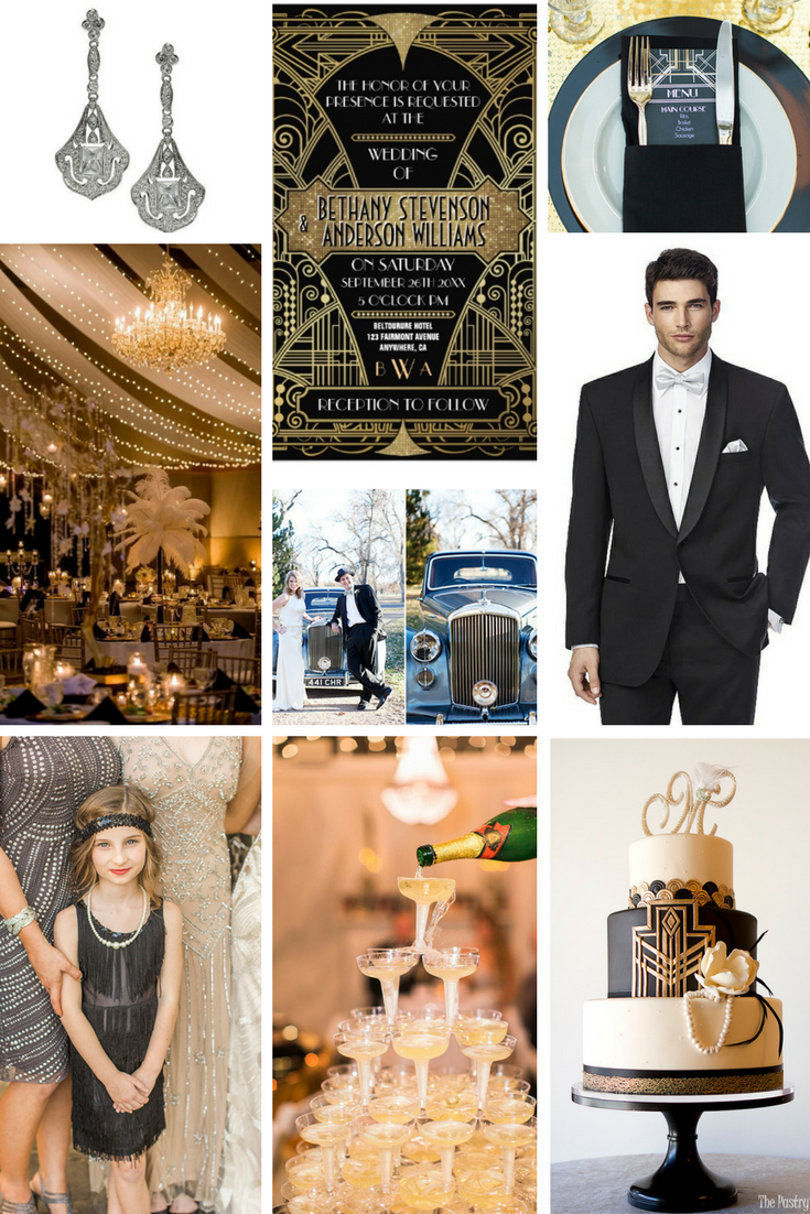 how to style a great gatsby wedding theme