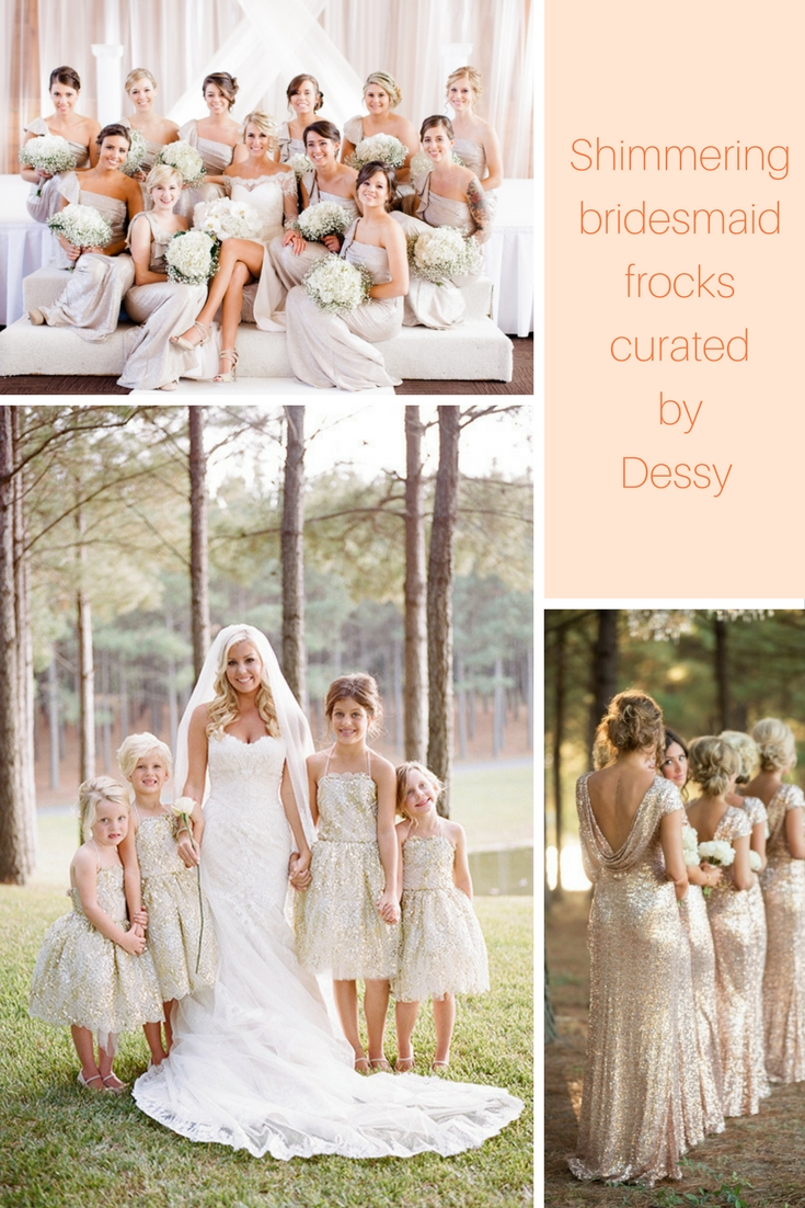 Shimmering bridesmaid dresses that youre going to fall in love with ombrellifo Gallery