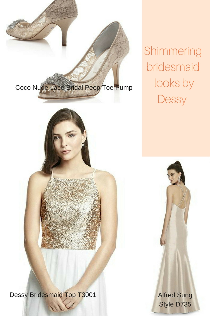 Shimmering bridesmaid dresses that youre going to fall in love with gold sequin bridesmaid frock ombrellifo Gallery