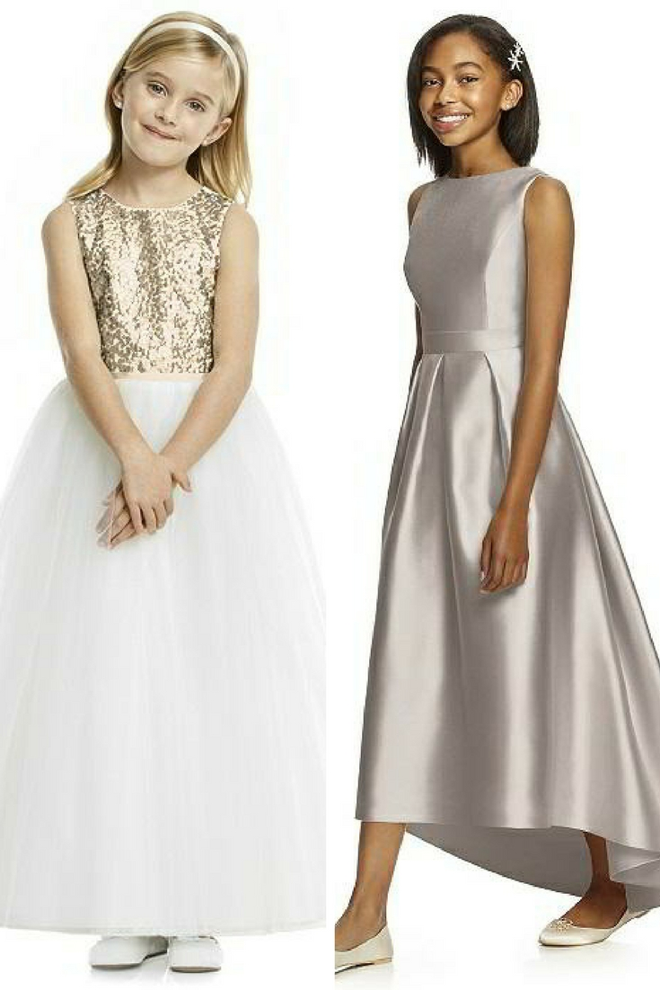 sequin flowergirl frocks in gold