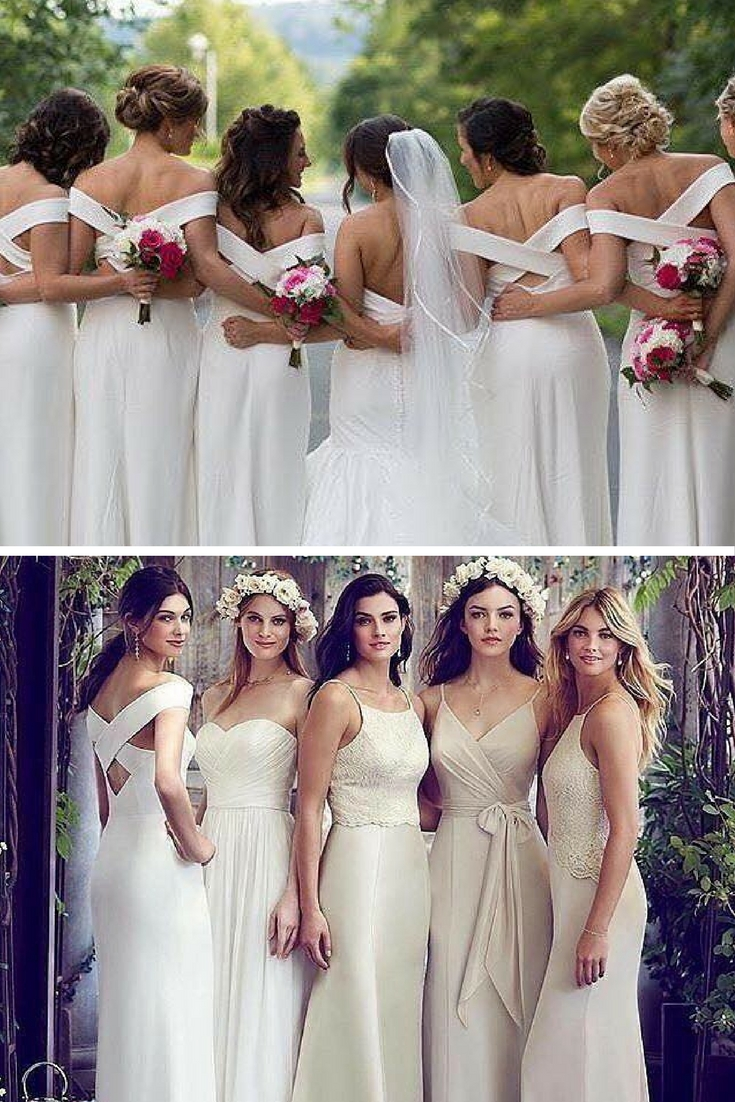 The dessy group the spot for all things bridesmaid styling up white bridesmaid dresses ombrellifo Images