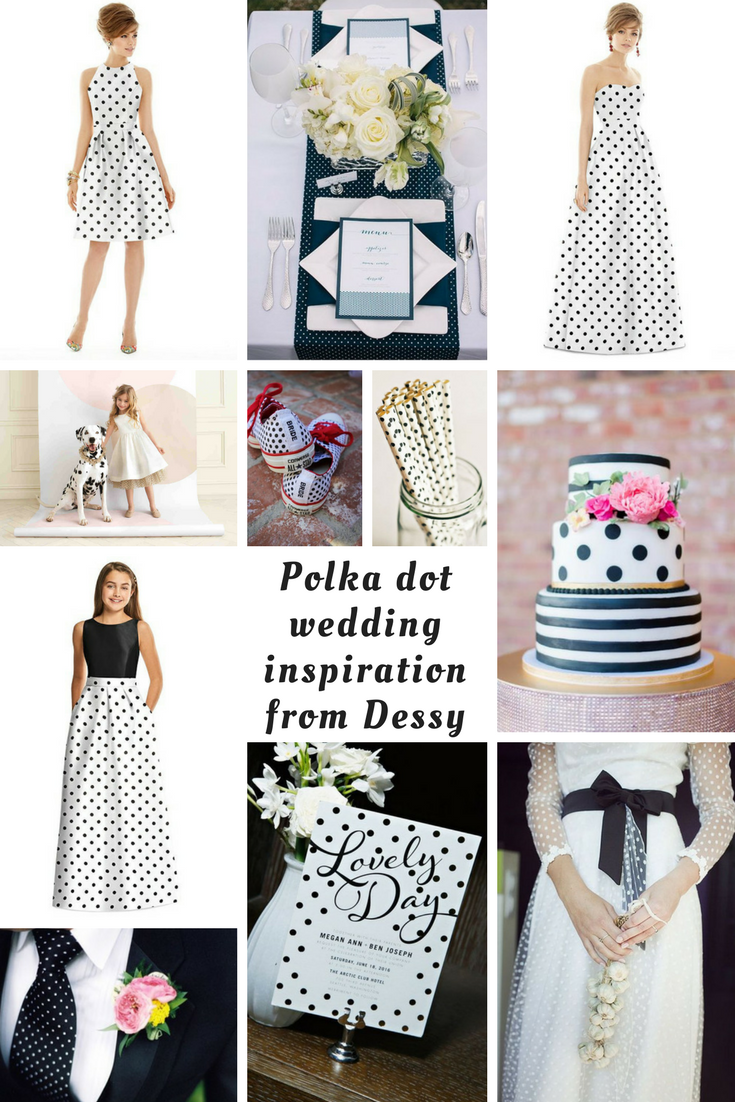 How to get a polka dot wedding theme to perfection