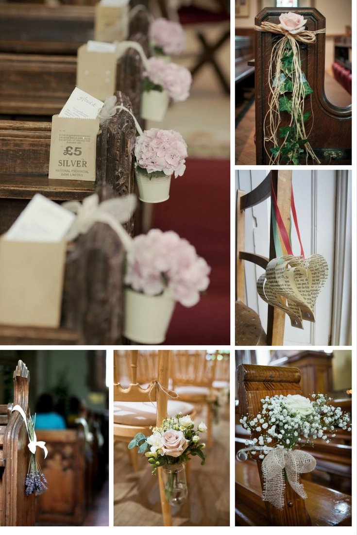 5 easy diy ideas to decorate your wedding pews junglespirit Choice Image