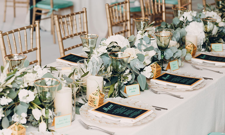 wedding colors and table decor ideas