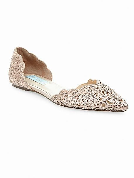 Blush Pink Jeweled Flat
