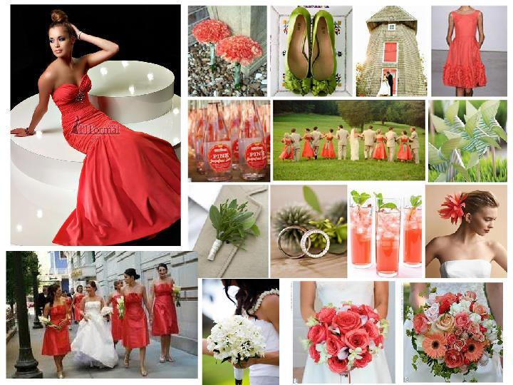 Wedding Inspiration Board - Corals
