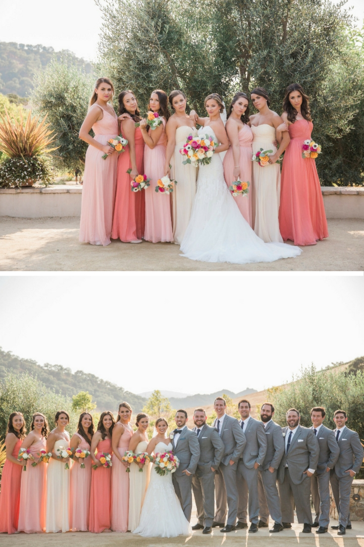 Ombre Bridesmaids Dresses - and other ombre wedding delights