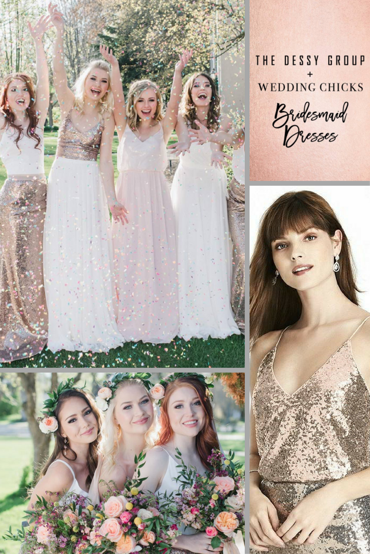 These rose gold bridesmaid separates will make you melt ombrellifo Gallery
