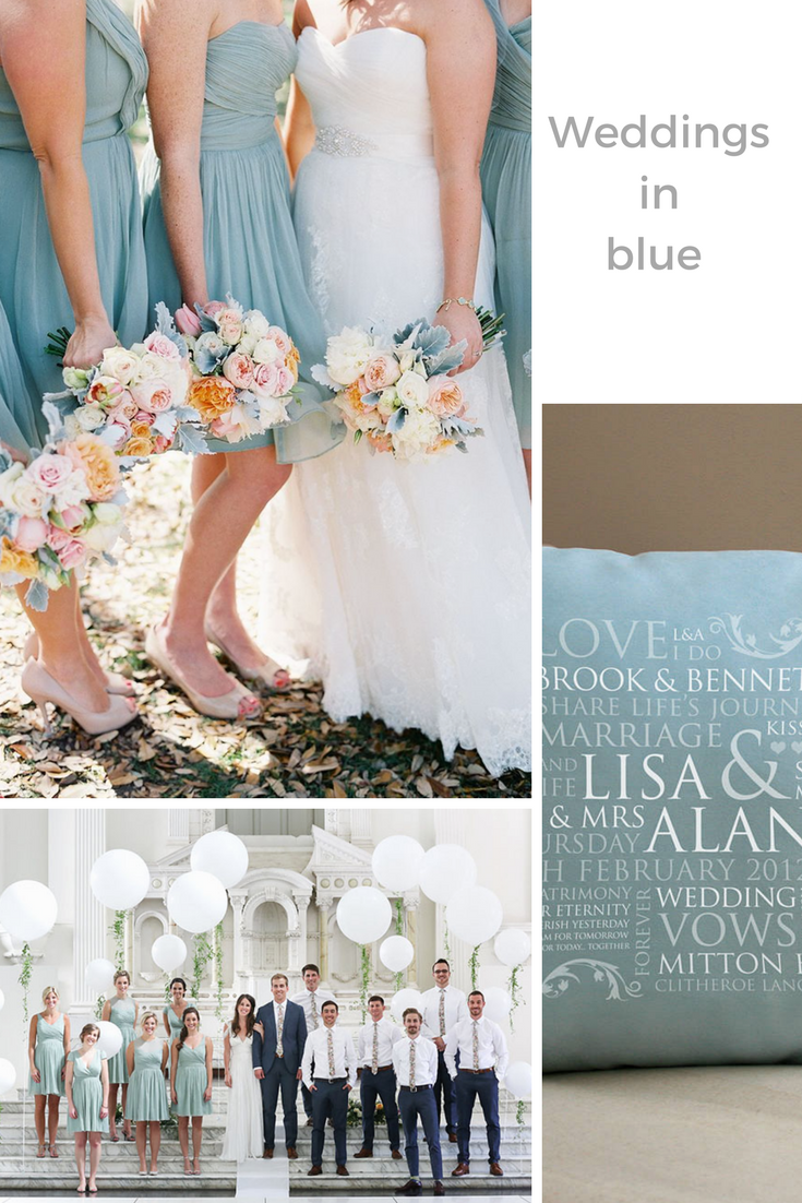 Wondering about wedding themes? Why blue is never wrong ...