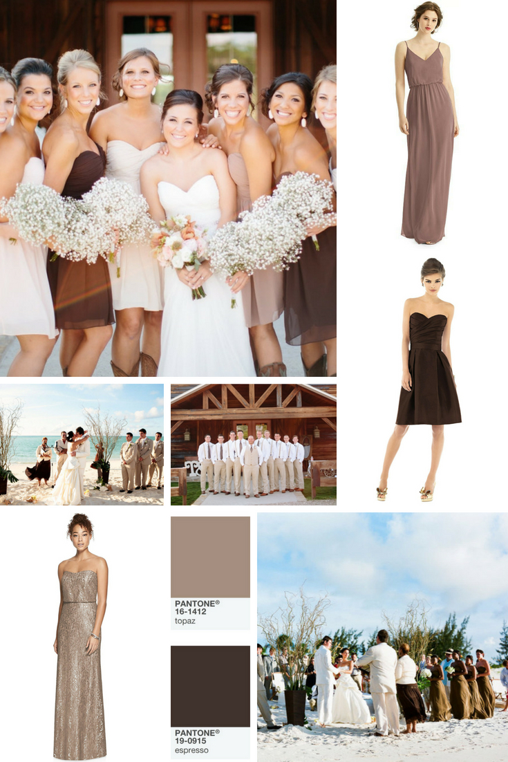 neutrals and earth tones wedding themes