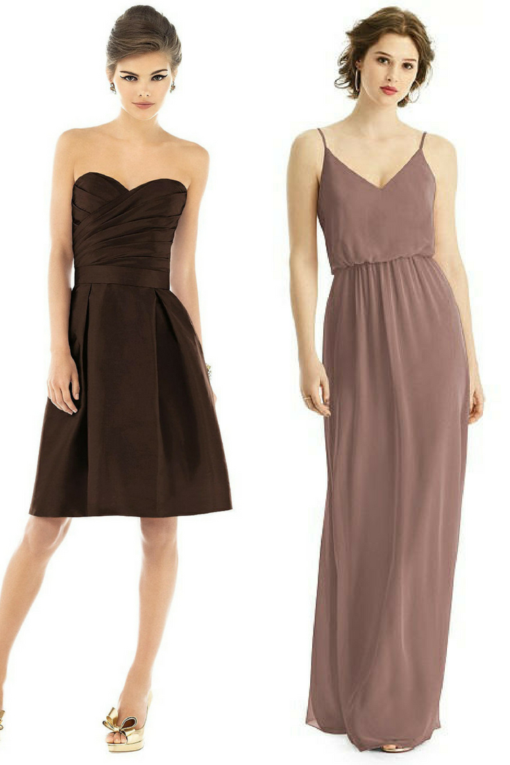 neutral colored bridesmaid dresses