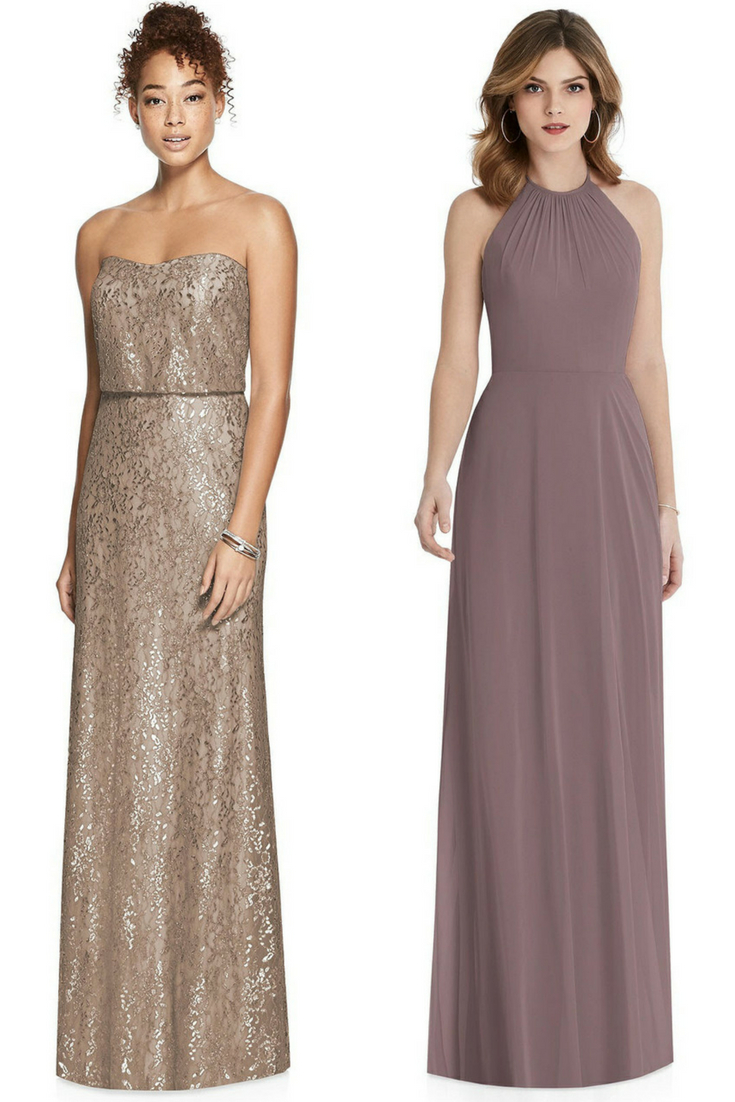 bridesmaid dresses in neutrals