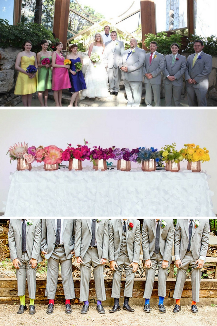 a rainbow wedding theme? these photographs will make you