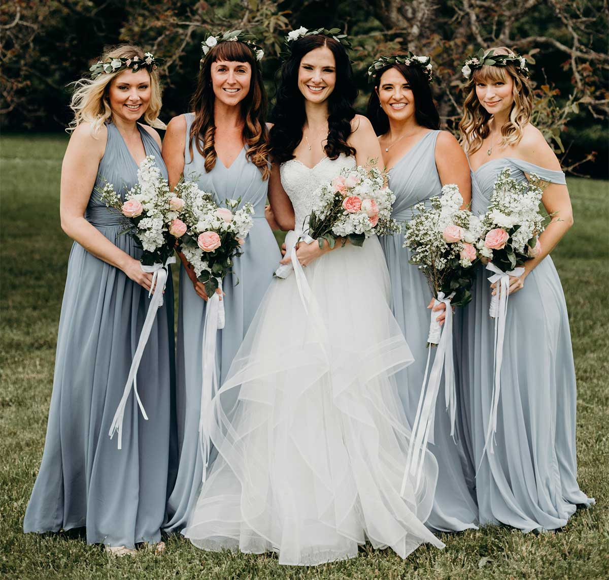 Dessy Real Wedding: Steel Blue Wedding