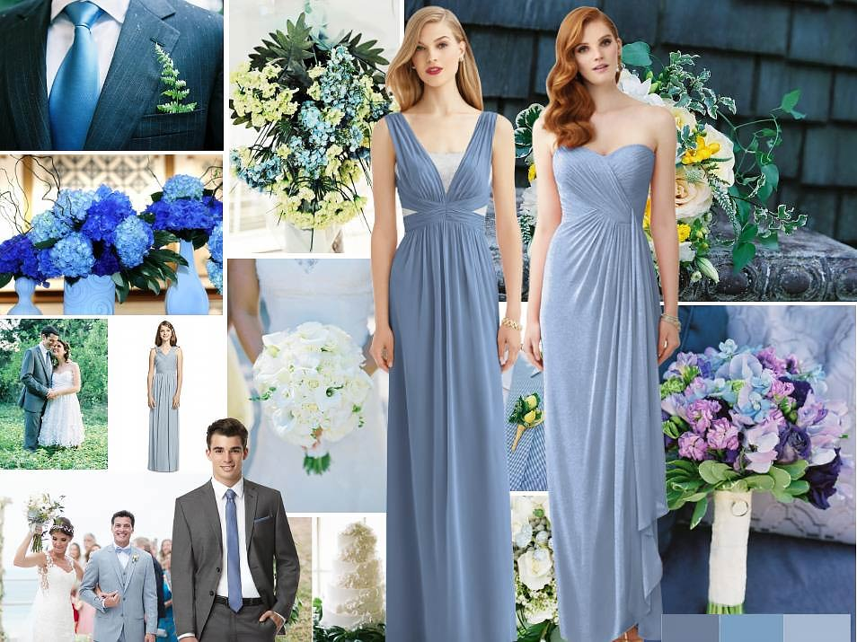Steel Blue Wedding Inspiration