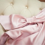 pink satin wedding accessory bow