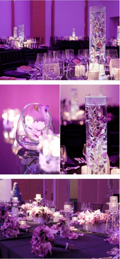 Purple Wedding Theme Lighting
