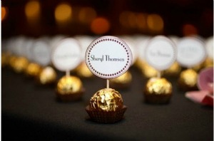 chocolate name place settings