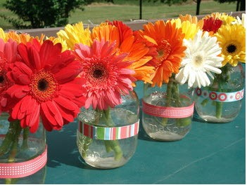 Gerbera table decorations