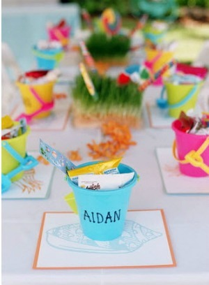 wedding table setting for children
