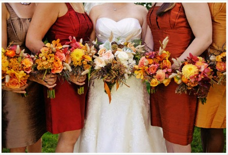 Autumn bridesmaid dress colors for may