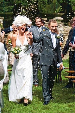 English country garden party wedding