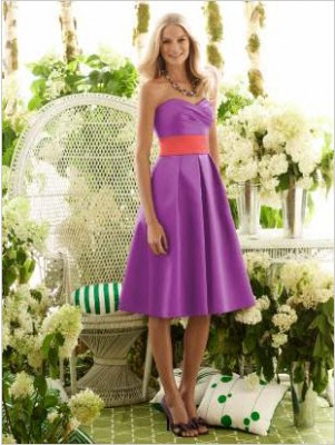 Purple and Orange Bridesmaid Dresses