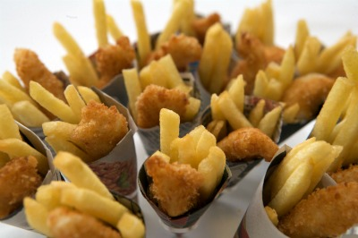 Mini Fish And Chip Cones