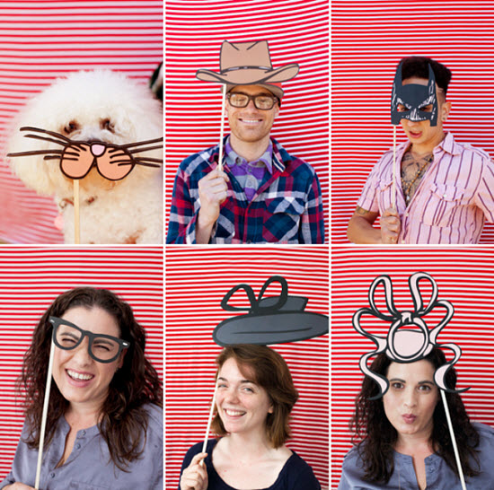 24 DIY Wedding Photo Booth Props with Free Download