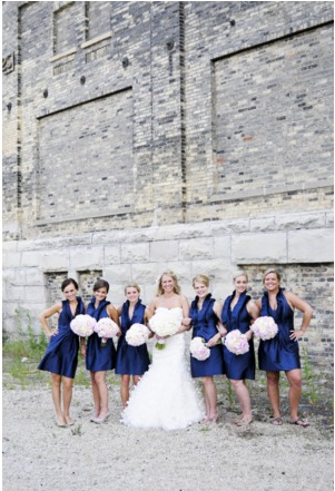 A Navy Blue And White Wedding