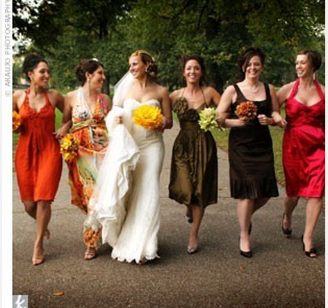 Bridesmaid dresses colors fall wedding