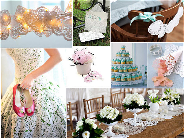 A Lace Wedding of Elegance with DIY Doily Decor