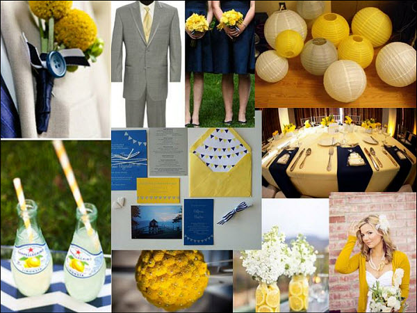 Navy and Yellow Wedding Themes that Inspire the Ocean
