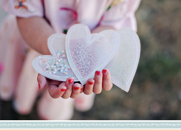 DIY Wedding Idea Confetti Hearts