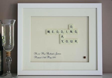 Personalised bride and groom wedding gifts